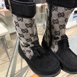 グッチ(Gucci)の新品★子供グッチ柄ブーツ 18㎝(ブーツ)