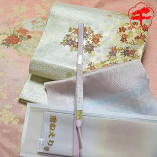 ご確認用✿裄丈69✿5点セット✿フルセット✿四季の花々正絹訪問着 七五三 結婚式(着物)