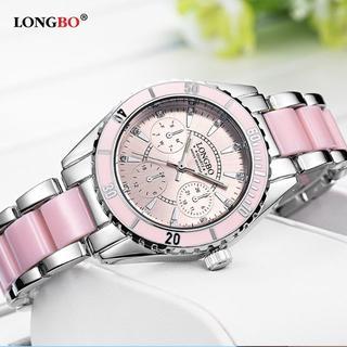 洗練された デザイン!女性用腕時計(新品・ピンクか白を選択)#Tue91(腕時計)