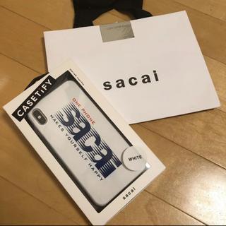 サカイ(sacai)の新品 sacai iPhone XS Max ケース(iPhoneケース)