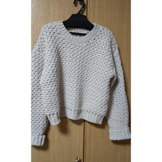 ケービーエフ(KBF)のKBF ざっくり編み ショート丈セーター(ニット/セーター)