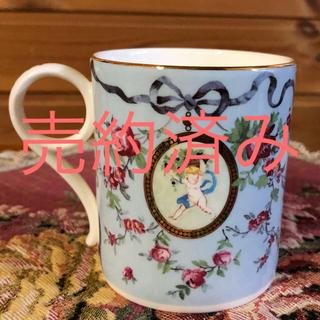 ウェッジウッド(WEDGWOOD)の☆希少☆ウェッジウッド☆リボン&ワイルドローズ☆マグカップ(グラス/カップ)