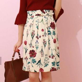 PROPORTION BODY DRESSING - プロポーションボディドレッシング  ボタニカルプリントタイトスカート