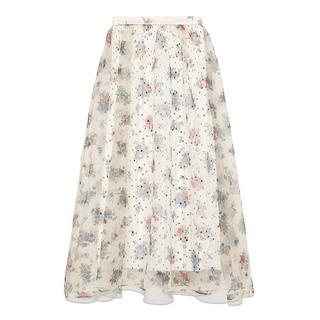 リリーブラウン(Lily Brown)のシアーフラワーボリュームスカート lilybrown(ロングスカート)