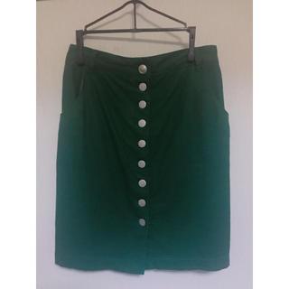 ジエンポリアム(THE EMPORIUM)の【秋物SALE】フロントボタン台形スカート(ミニスカート)
