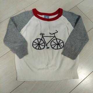 ベビーギャップ(babyGAP)のGAP☆自転車薄手セーター(80)(ニット/セーター)