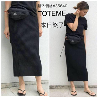 L'Appartement DEUXIEME CLASSE - 早い者勝ち!新品未使用!購入価格¥35640 TOTEME リブスカート 黒