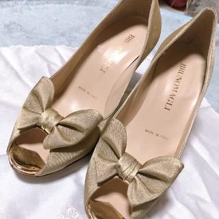 ブルーノマリ(BRUNOMAGLI)のハイヒール 小さい靴 20.5 ゴールド(ハイヒール/パンプス)