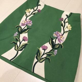 Lily Brown - LilyBrown  刺繍台形スカート