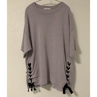 JEANASIS - ジーナシス  サイドリボン tシャツ トレーナー 半袖