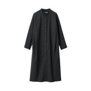 MUJI (無印良品) - 新品    無印良品  ストレッチ高密度織りワンピース