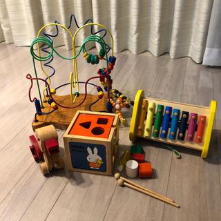 BorneLund - おもちゃ ルーピング 大 木のおもちゃ木琴型はめ なと4点セット知育玩具