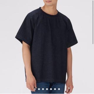 ムジルシリョウヒン(MUJI (無印良品))の無印良品 オーガニックコットンデニムプルオーバー半袖シャツ(紳士)(Tシャツ/カットソー(半袖/袖なし))