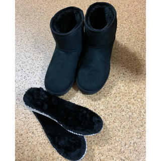 ヌォーボ(Nuovo)の新品未使用 nuovo  ヌォーボ  ムートンブーツ  黒(ブーツ)