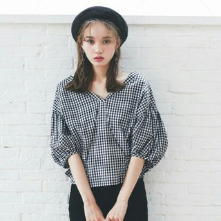 GRL - 【完売品】 新作新品  GRL  ギンガムチェックトップス