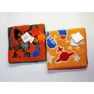 Vivienne Westwood - 【送料無料】未使用■ヴィヴィアンウエストウッド■クリスマス柄タオルハンカチ■2枚