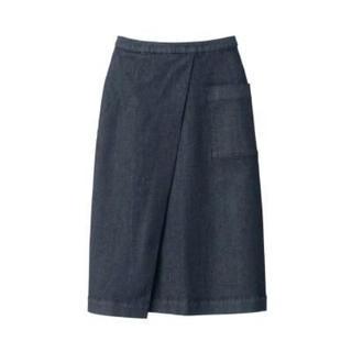MUJI (無印良品) - 新品   無印良品  縦横ストレッチデニムイージーセミフレアスカート