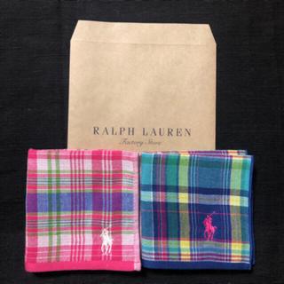 Ralph Lauren - ⑤ラルフローレンガーゼミニタオル②枚