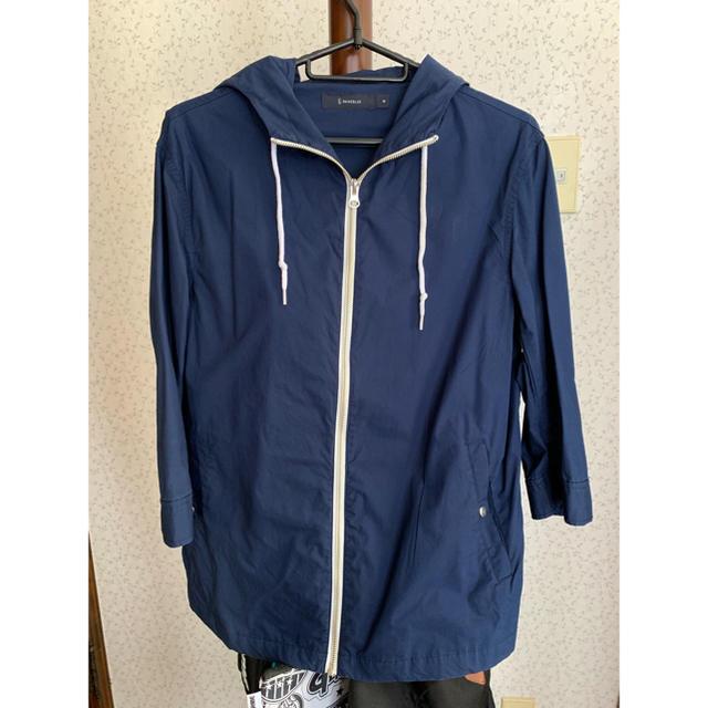 RAGEBLUE(レイジブルー)のRAGEBLUE 七分袖ジャケット ネイビー  Mサイズ レディースのジャケット/アウター(テーラードジャケット)の商品写真