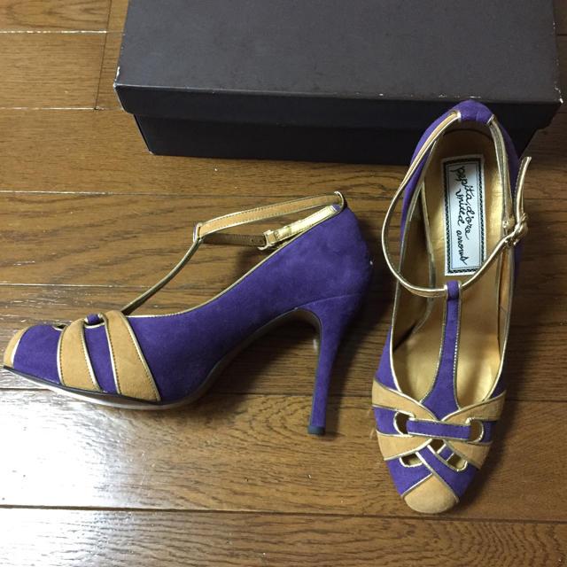 BEAUTY&YOUTH UNITED ARROWS(ビューティアンドユースユナイテッドアローズ)の新品 定価24150円 ユナイテッドアローズ パンプス ストラップ パープル レディースの靴/シューズ(ハイヒール/パンプス)の商品写真