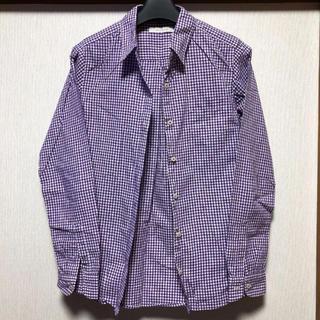 ローリーズファーム(LOWRYS FARM)のチェックシャツ 紫(シャツ/ブラウス(長袖/七分))