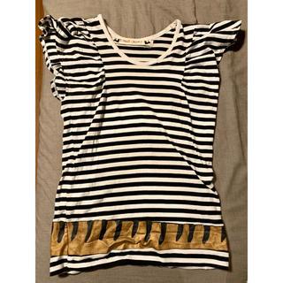 ツモリチサト(TSUMORI CHISATO)のTsumori Chisato ツモリチサト ボーダー猫Tシャツ(Tシャツ(半袖/袖なし))