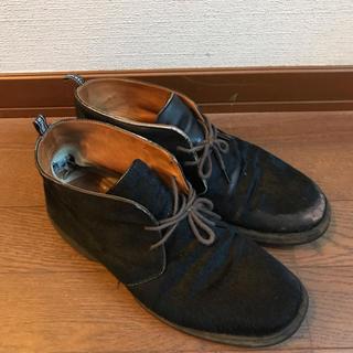 エルメス(Hermes)のエルメス  ハラコ 靴 チャッカブーツ(ローファー/革靴)