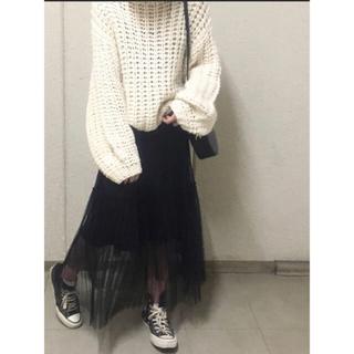 メゾンドリーファー(Maison de Reefur)のETRE TOKYO チュールプリーツスカート エトレトウキョウ(ロングスカート)