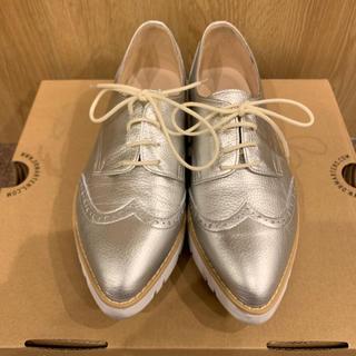 ダイアナ(DIANA)のDiana レースアップシューズ シルバー(ローファー/革靴)