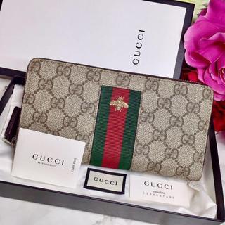 Gucci - 美品 GUCCI グッチ 長財布 財布 蜂 ハチ ウォレット シェリーライン