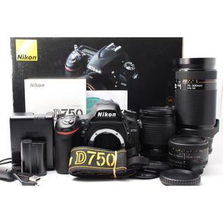 Nikon - ❤️最新機種❤️ニコン D750 単焦点&標準&超望遠トリプルレンズセット❤️