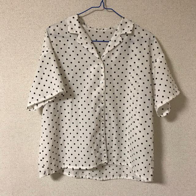 GU(ジーユー)のGU ドットオープンカラーシャツ レディースのトップス(シャツ/ブラウス(半袖/袖なし))の商品写真