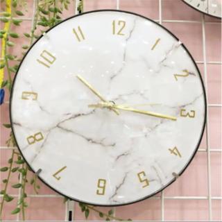 【本日限定お値下げ】大理石柄 壁掛け時計