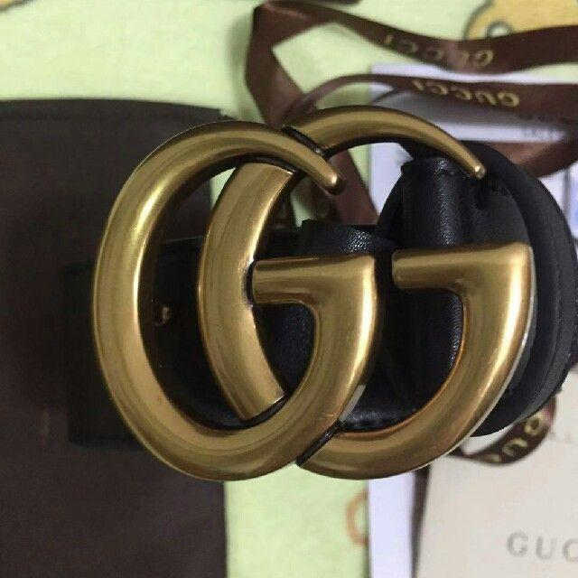Gucci(グッチ)のGUCCI グッチ ダブルG バックル レザーベルト メンズのファッション小物(ベルト)の商品写真