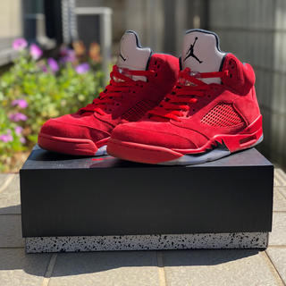 NIKE - AIR JORDN 5/RED SUEDE