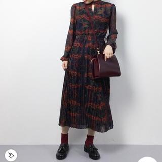 Ameri VINTAGE - PAISLEY PLEATS DRESS