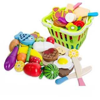 Toudorp 22点セット 木製 おままごと 磁石式 食材 果物 食べ物