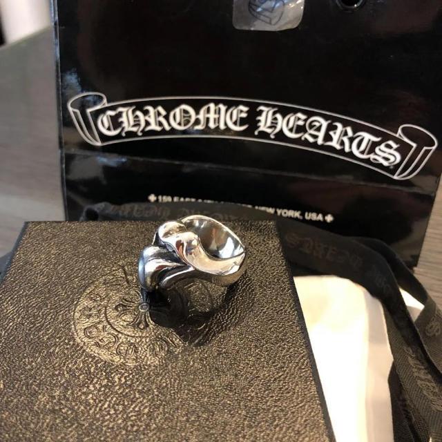 Chrome Hearts(クロムハーツ)のクロムハーツ リップ&タン リング ストーンズ 16号  メンズのアクセサリー(リング(指輪))の商品写真