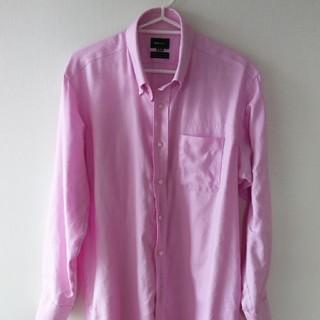 メンズ 長袖シャツ 3L ピンク(シャツ)