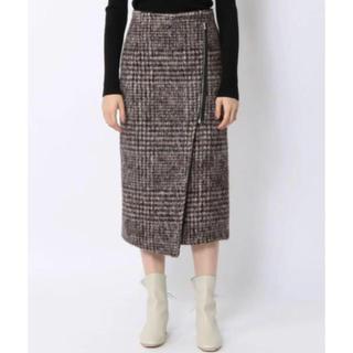 TOMORROWLAND - 美品 TOMORROW LAND チェック ラップタイトスカート 36