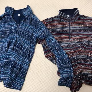 UNIQLO - タートルネックセーター 二着 青色 赤色