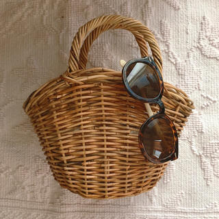 イエナ(IENA)のかごバッグ バスケット カゴバッグ vintage (かごバッグ/ストローバッグ)