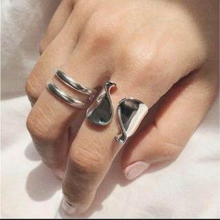 BEAUTY&YOUTH UNITED ARROWS - tear drop ring silver925 シルバーリング 2点セット