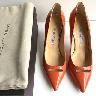 ペリーコ(PELLICO)の37 PELLICO ペリーコ   パンプス アンドレア オレンジ ピンク 新品(ハイヒール/パンプス)