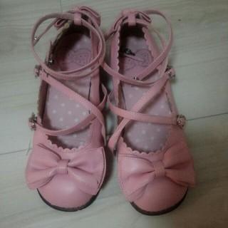 アンジェリックプリティー(Angelic Pretty)のAngelic Pretty Tea Party Shoes L(バレエシューズ)