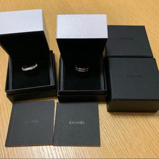 シャネル(CHANEL)の箱付き シャネル ウルトラリング 黒セラ 白セラ セット(リング(指輪))