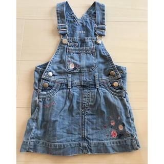 ベビーギャップ(babyGAP)のデニム 刺繍 ジャンパースカート(ワンピース)