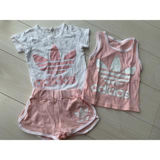 adidas - 韓国子供服 アディダス Tシャツ タンクトップ ハーフパンツ 3点セット
