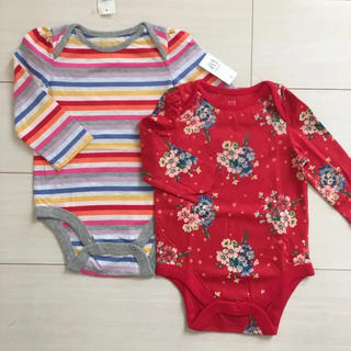 ベビーギャップ(babyGAP)の新品♡babygap 80 ロンパース ボディシャツ(ロンパース)