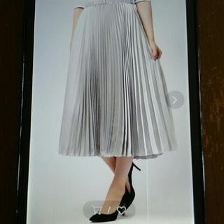 ユナイテッドアローズ(UNITED ARROWS)のユナイテッドアローズ サテンプリーツスカート(ロングスカート)